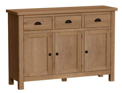 Richmond Rustic Oak 3 Door Sideboard